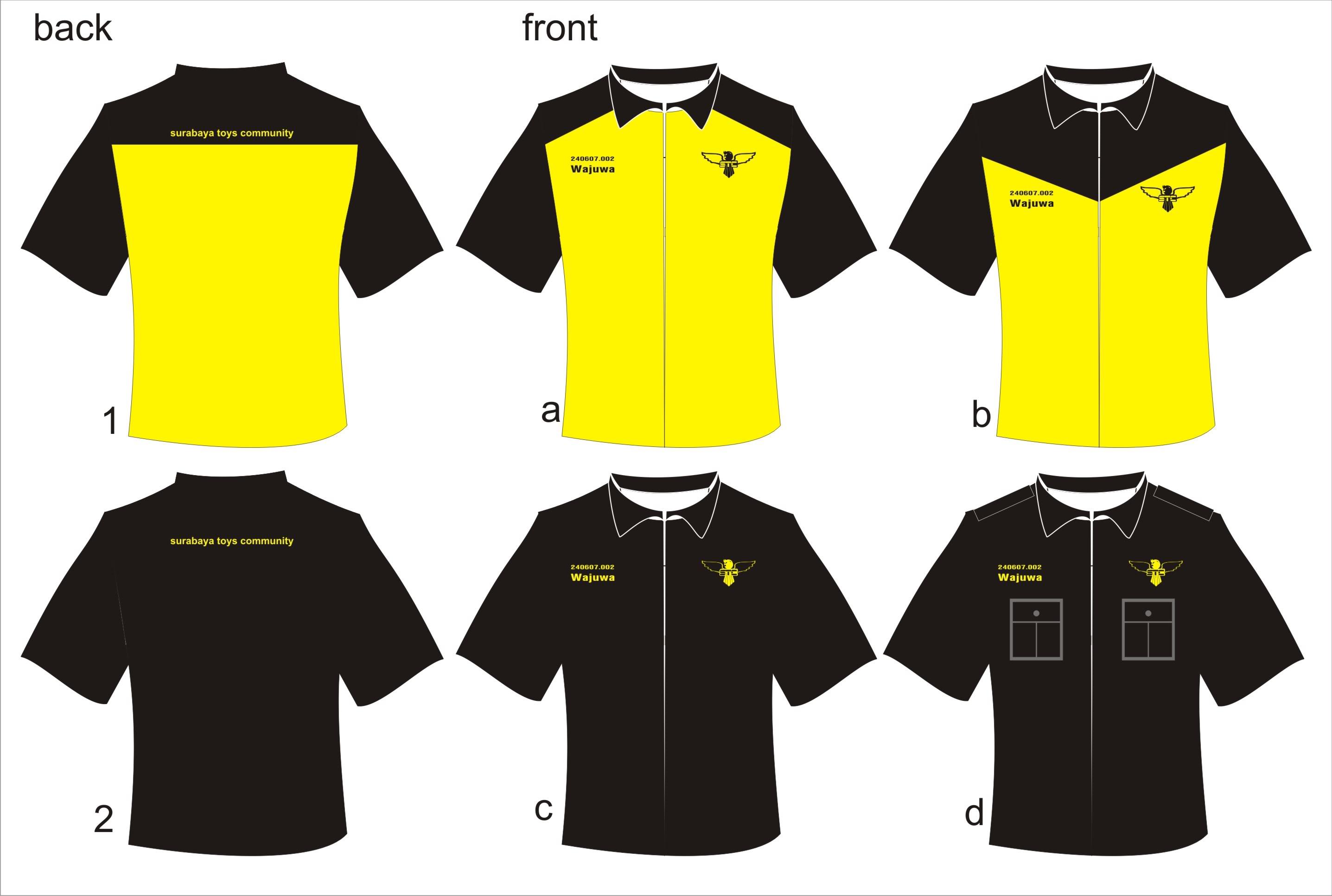 contoh desain kemeja/baju basscom creative